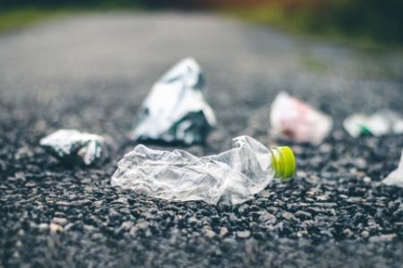 Flasche auf Straße