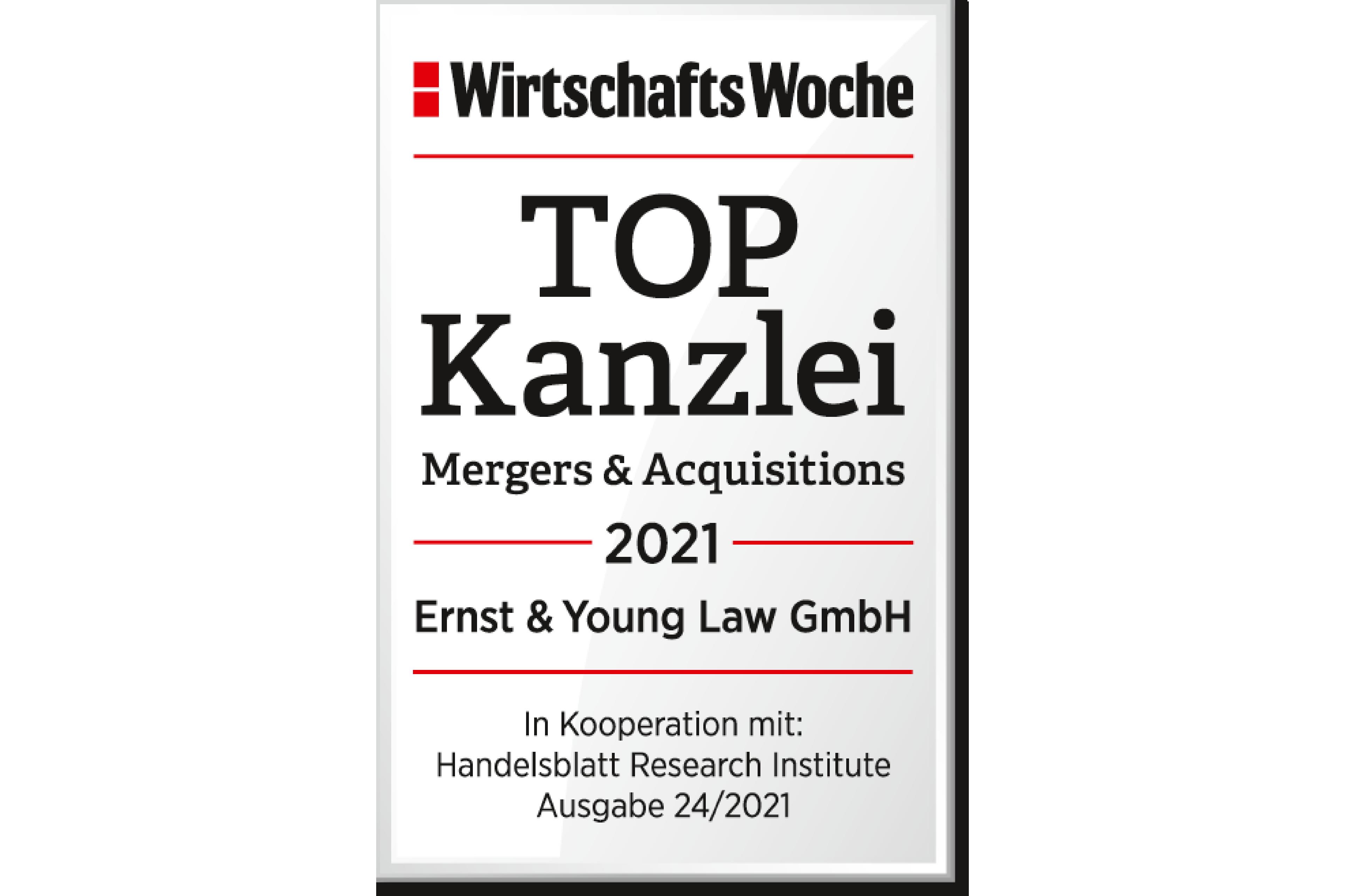 TOP Kanzlei WirtschaftsWoche 2021
